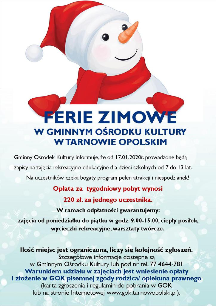 Plakat - Ferie Zimowe z GOK 2020.jpeg