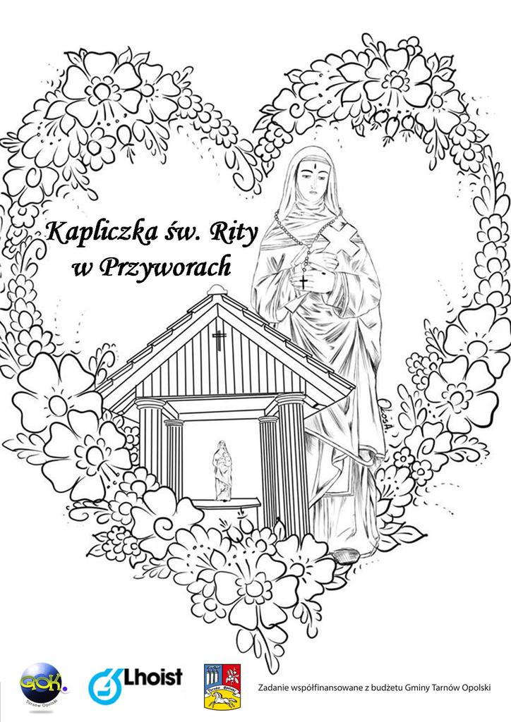 Kolorowanka Kapliczka św. Rity w Przyworach.jpeg